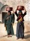 Palestine: Two Palestinian women of Siloam (Arabic Silwan, Hebrew Shiloah) selling fresh yoghurt, c. 1900
